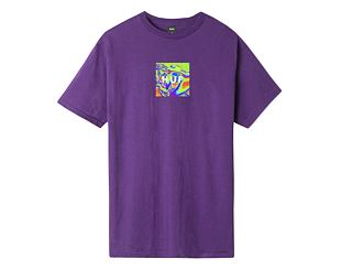 Triko HUF Acid House Box Logo Grape