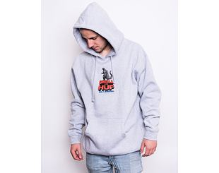 Mikina Huf Vs Godzilla P/O Hoodie Grey Heather