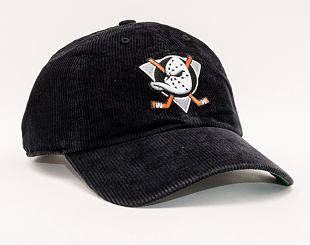 Kšiltovka 47 Brand Anaheim Ducks Corduroy CLEAN UP Black