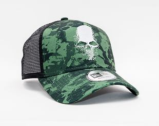 Kšiltovka New Era 9FORTY A-FRAME Trucker Ghost Recon Bp Skull Woodland Camo