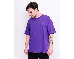 Triko Champion Crewneck T-Shirt Purple 214282 VS017