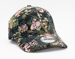 Kšiltovka New Era 9FORTY Woven Floral Strapback Black