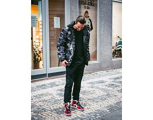 Bunda Karl Kani OG Reversible Camo Puffer Jacket Black 6076501