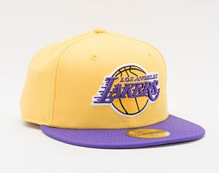 Kšiltovka New Era 59FIFTY NBA Basic Los Angeles Lakers Fitted Yellow / Purple