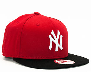 Kšiltovka New Era 9FIFTY Cotton Block New York Yankees Snapback Scarlet / Black