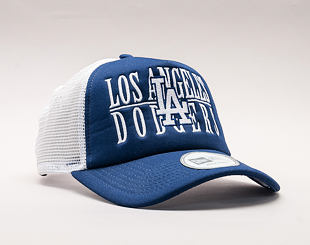 Kšiltovka New Era Trucker Word Stack Los Angeles Dodgers Dark Royal/Gray Snapback
