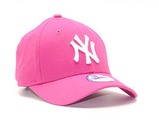 Dětská Kšiltovka New Era League Basic New York Yankees Pink Youth 9FORTY Strapback