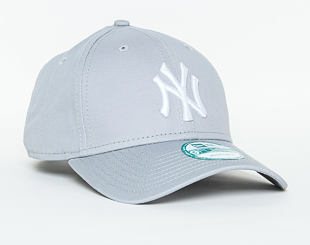 Kšiltovka New Era League Basic New York Yankees Gray/White 9FORTY Strapback