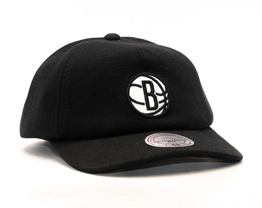 Kšiltovka Mitchell & Ness Throwback Brooklyn Nets Black Snapback