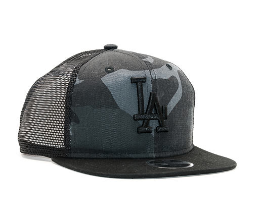 Dětská Kšiltovka New Era Trucker Washed Camo Los Angeles Dodgers 9FIFTY Youth Marine Navy Camo Snapb