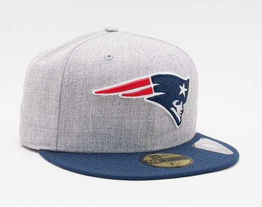 Kšiltovka New Era 59FIFTY NFL Heather Essential New England Patriots Fitted Heather Gray