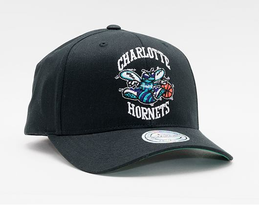 Kšiltovka MItchell & Ness Charlotte Hornets 537 Team Logo High Crown Black