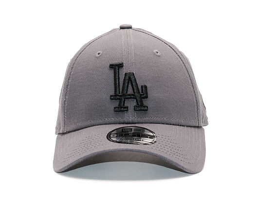 Dámská Kšiltovka New Era League Essential Los Angeles Dodgers 9FORTY Grey Heather/Black Strapback