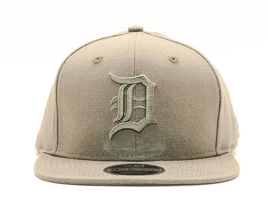 Kšiltovka New Era Original Fit Canvas Detroit Tigers 9FIFTY Khaki Snapback