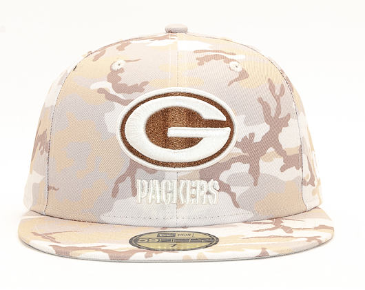 Kšiltovka New Era 59FIFTY Green Bay Packers Camo Sand
