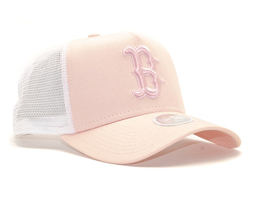 Dámská Kšiltovka New Era 9FORTY A-Frame Trucker Baston Red Sox Essential Peach/White