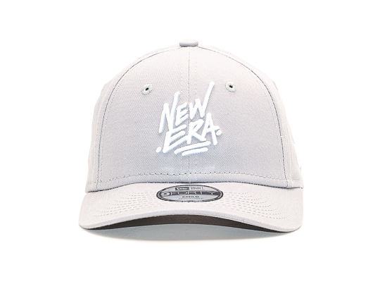 Dětská Kšiltovka New Era 9FORTY Script Child Dolphin Gray / White Strapback