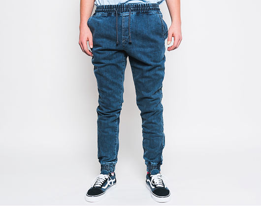 Kalhoty Diamante Wear Jogger Jeans Marble Blue