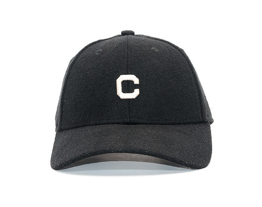 Kšiltovka New Era Mini Melton Cleveland Indians 9FORTY Light Black/Satin Strapback