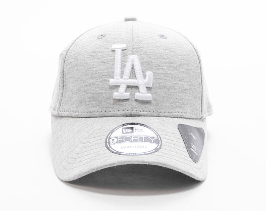 Kšiltovka New Era 9FORTY Los Angeles Dodgers Winterised The League Gray/White Strapback