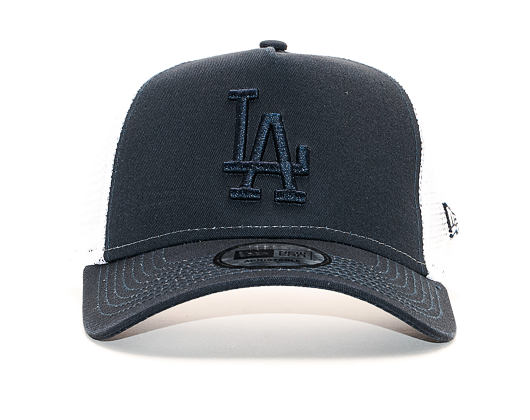 Kšiltovka New Era 9FORTY Trucker The League Essential Los Angeles Dodgers Navy / BSK Snapback