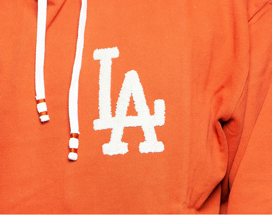 Mikina New Era Vintage Big Logo Hoody Los Angeles Dodgers Cooperstown Rust