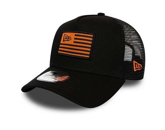 Kšiltovka New Era 9FORTY A-Frame Trucker Flag Black/Orange