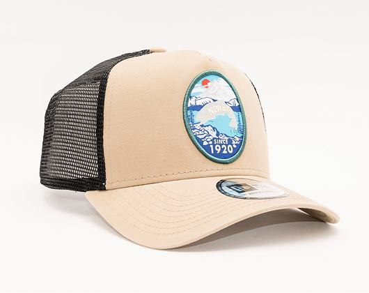 Kšiltovka New Era 9FORTY A-FRAME Trucker Outdoors Stone