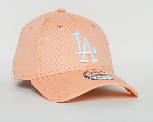 Kšiltovka New Era  League Essential  Los Angeles Dodgers 9FORTY Strapback Posh Peach / Optic White