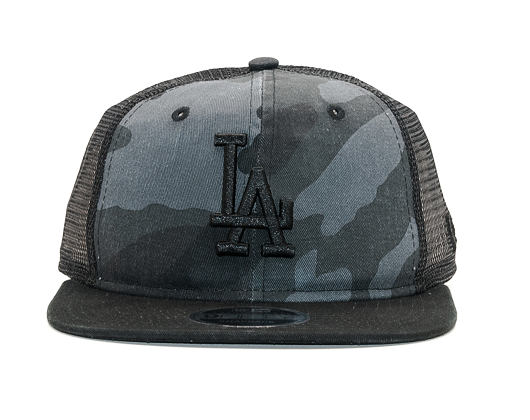 Kšiltovka New Era Trucker Washed Camo Los Angeles Dodgers 9FIFTY Marine Navy Camo Snapback