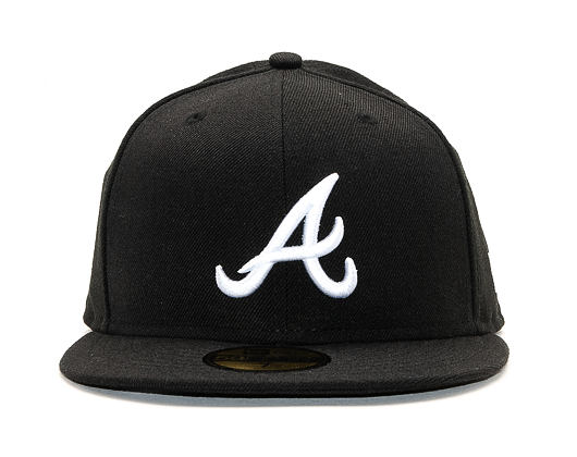 Kšiltovka New Era 59FIFTY MLB Basic Atlanta Braves Fitted Black / White