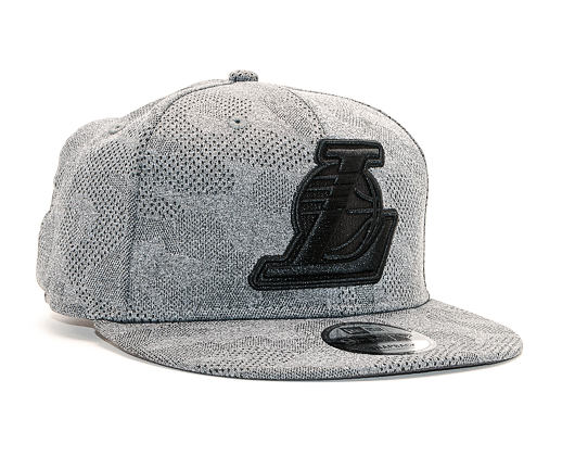 Kšiltovka New Era 9FIFTY Engineered Plus Los Angeles Lakers Gray / Black Snapback