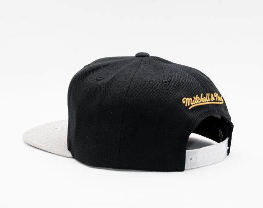 Kšiltovka Mitchell & Ness Los Angeles Lakers Black Heather Reflective Snapback