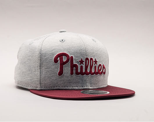 Kšiltovka New Era The Lounge Philadelphia Phillies 9FIFTY Gray/Cardinal Snapback