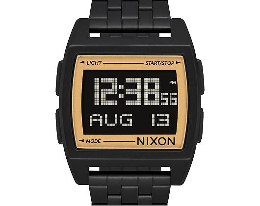Hodinky Nixon Base All Black Gold A11071031