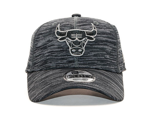 Kšiltovka New Era 9FORTY Chicago Bulls Engineered Fit Black/Grey Heather Strapback