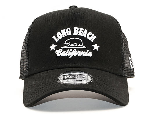 Kšiltovka New Era 9FORTY A-Frame Trucker Long Beach Black/White