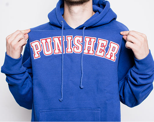Mikina Pleasures x Big Pun Punisher Hoody Royal Blue