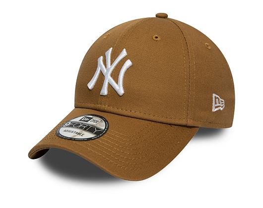 Kšiltovka New Era 9FORTY New York Yankees League Essential Wheat