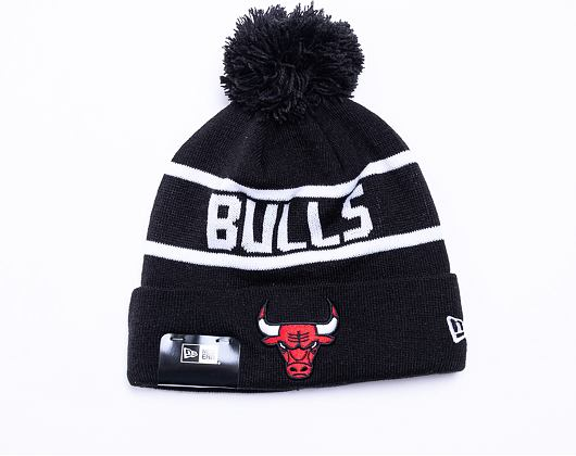 Kulich New Era NBA Team Jake Bobble Cuff Knit Chicago Bulls Black