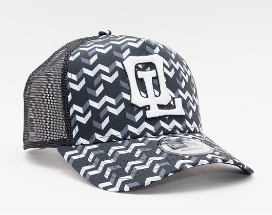 Kšiltovka New Era 9FORTY A-Frame Trucker monochrome pattern OLYLYO Snapback XPT / Optic White
