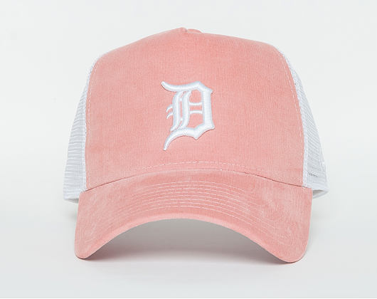Dámská Kšiltovka New Era  Micro Cord  Detroit Tigers  9FORTY A-FRAME TRUCKER  Pink / Optic White