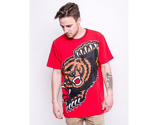 Triko Mitchell & Ness Vancouver Grizzlies Big Face T-Shirt Red