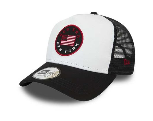 Kšiltovka New Era 9FORTY A-Frame Trucker flag