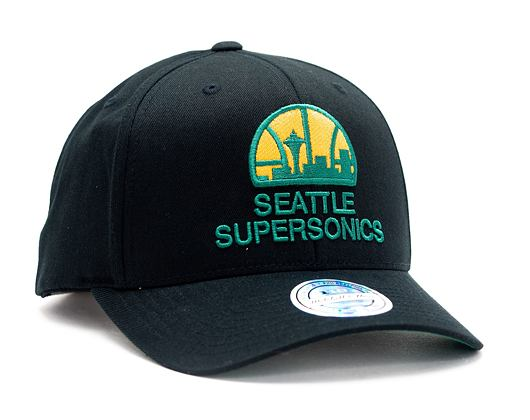 Kšiltovka Mitchell & Ness Seattle Supersonics 537 Team Logo High Crown Black