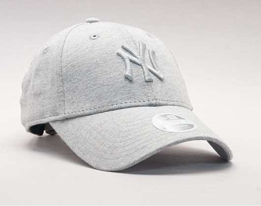 Dámská Kšiltovka New Era Jersey Essential New York Yankees 9FORTY Gray/Gray Strapback