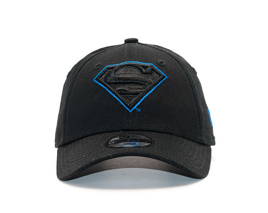 Dětská Kšiltovka New Era Char Outl Superman 9FORTY Child Black/Blue Azzure Strapback
