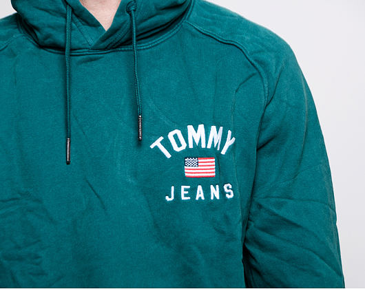 Mikina Tommy Jeans TJM WASHED CHEST GRAPHIC HOODIE CA4