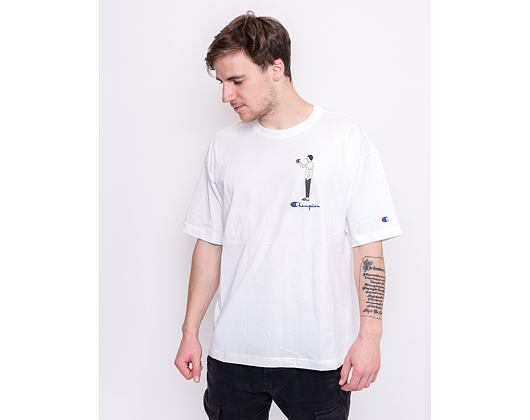Triko Champion Crewneck T-Shirt White 214419 WW006