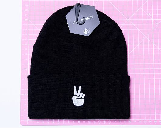 Kulich State of WOW Handsign Beanie - Peace Black